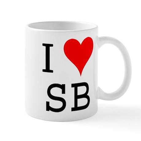 I Love SB Mug