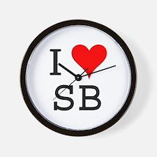 I Love SB Wall Clock