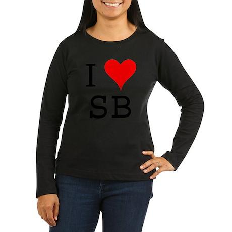 I Love SB Women's Long Sleeve Dark T-Shirt