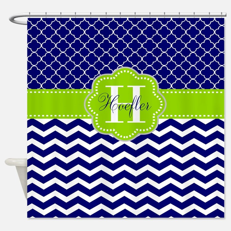 Navy Quatrefoil Shower Curtains Navy Quatrefoil Fabric Shower