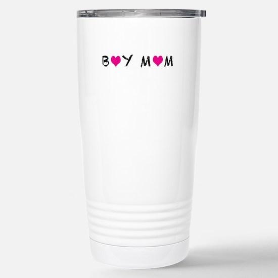 Boy Mom Stainless Steel Travel Mug