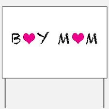 Boy Mom Yard Sign