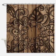 modern pattern barn wood western fashion Shower Cu