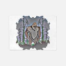 Bigfoot in timber 5'x7'Area Rug