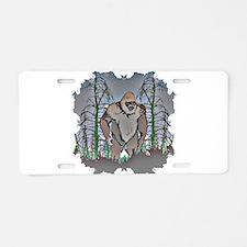 Bigfoot in timber Aluminum License Plate