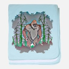Bigfoot in timber baby blanket