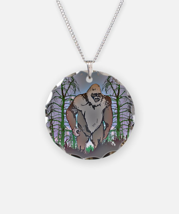 Bigfoot in timber Necklace