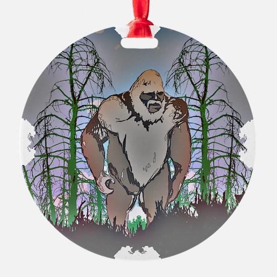 Bigfoot in timber Ornament