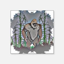 """Bigfoot in timber Square Sticker 3"""" x 3"""""""