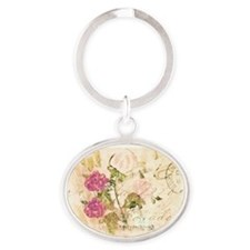 Vintage flowers and butterflies Keychains