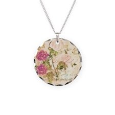 Vintage flowers and butterflies Necklace