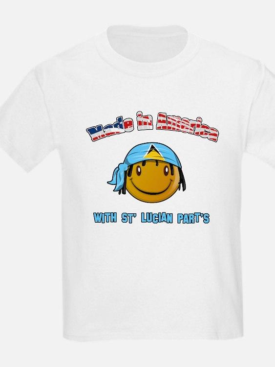 St Lucian American T-Shirt