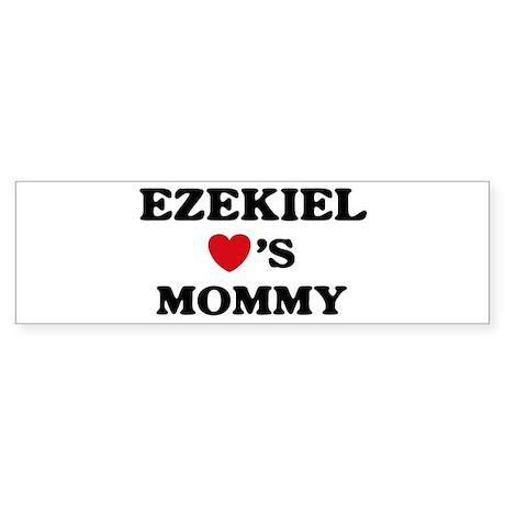 Ezekiel loves mommy Bumper Sticker