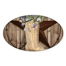 cowboy boots western country barn wood Decal