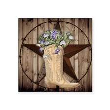cowboy boots western country barn wood Sticker