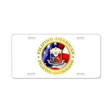 Filipino-American Aluminum License Plate