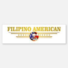 Filipino-American Bumper Bumper Bumper Sticker
