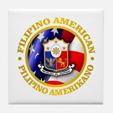 Filipino-American Tile Coaster
