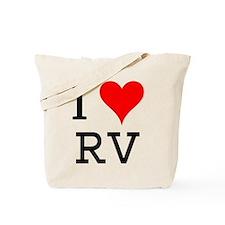 I Love RV Tote Bag