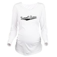 Summit Grove, Retro, Long Sleeve Maternity T-Shirt