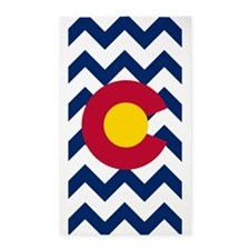 Colorado Flag Chevron 3'x5' Area Rug