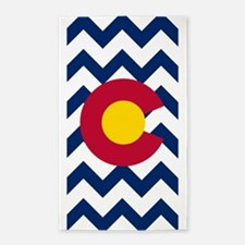Colorado Flag Chevron 3'x5' Area Rug