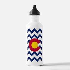 Colorado Flag Chevron Water Bottle