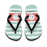 Monogram Flip Flops