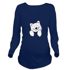 Pocket Eski Long Sleeve Maternity T-Shirt
