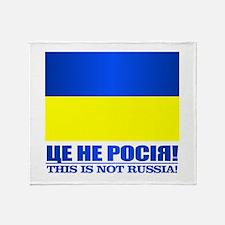 Ukraine (This Is Not Russia) Throw Blanket