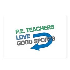P.E. Teachers Good Sports Postcards (Package of 8)