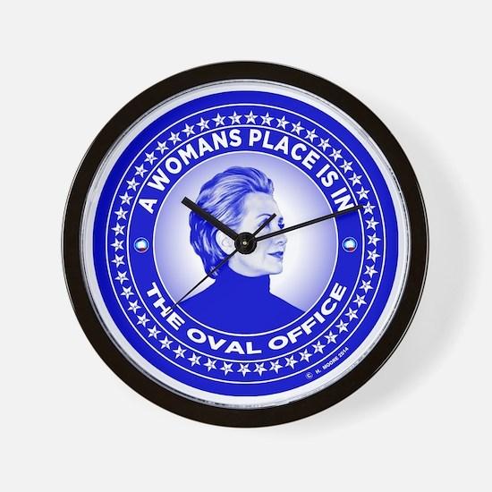 Unique Hillary Wall Clock