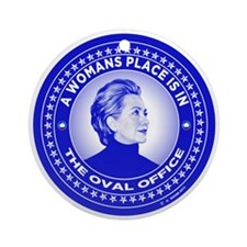 Cute Hillary Round Ornament
