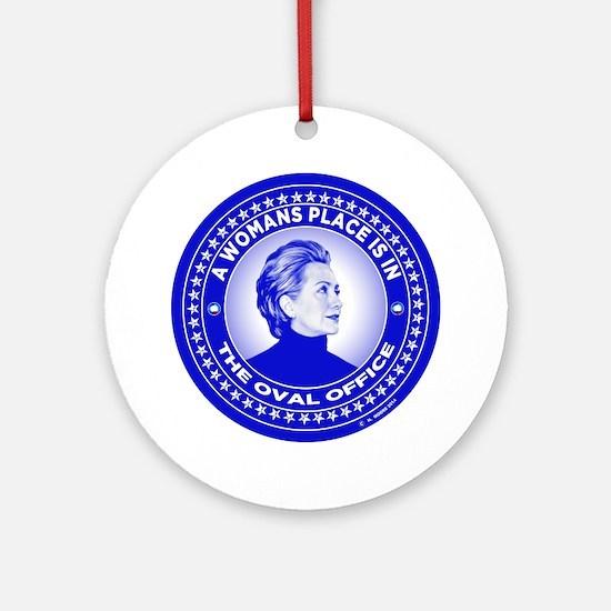 Unique Hillary Round Ornament