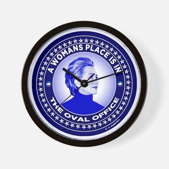 Cute Hillary Wall Clock