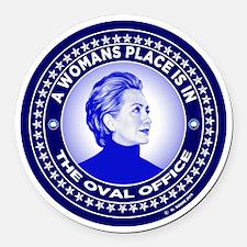 Cute Hillary Round Car Magnet