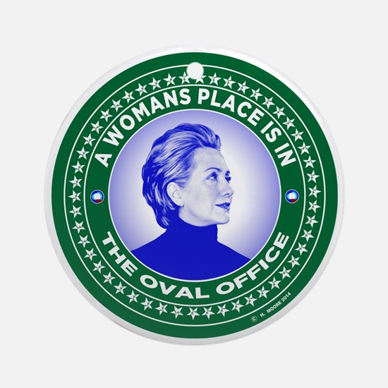 Cool Hillary Round Ornament