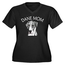 MerleB UC Dane Mom Women's Plus Size V-Neck Dark T