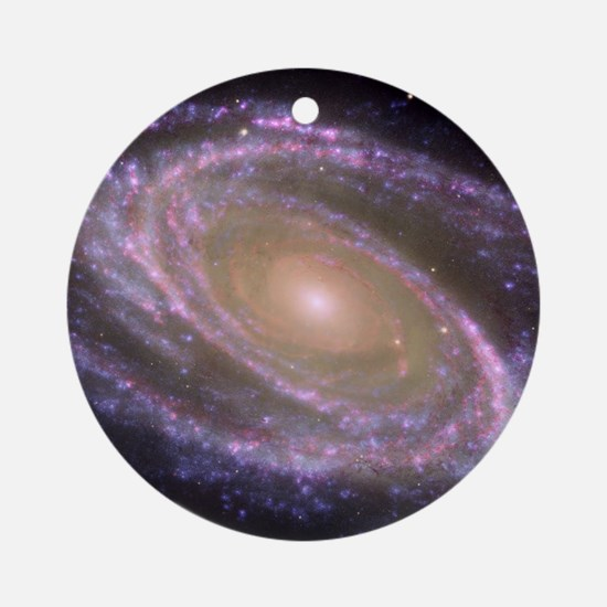 Spiral galaxy NASA image Ornament (Round)
