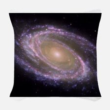 Spiral galaxy NASA image Woven Throw Pillow