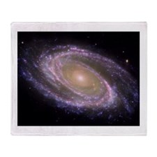 Spiral galaxy NASA image Throw Blanket