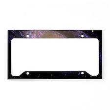 Spiral galaxy NASA image License Plate Holder