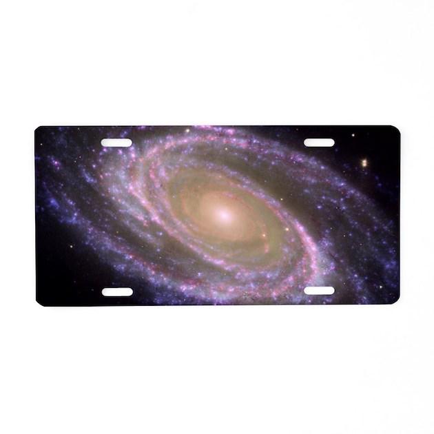 Spiral galaxy NASA image Aluminum License Plate by GiftShop57