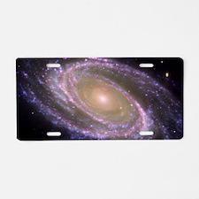 Spiral galaxy NASA image Aluminum License Plate