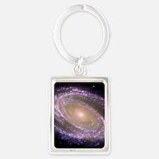 Spiral galaxy NASA image Keychains