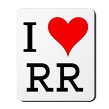 I Love RR Mousepad