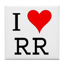 I Love RR Tile Coaster