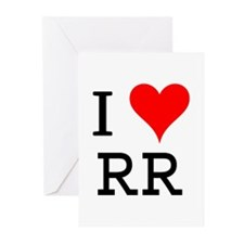 I Love RR Greeting Cards (Pk of 10)