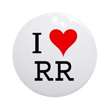 I Love RR Ornament (Round)