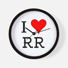 I Love RR Wall Clock